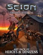 Scion Art Pack 02: Heroes & Denizens