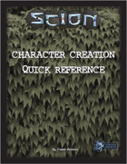 Scion Character Creation Quick Reference