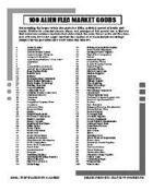 100 Alien Flea Market Goods