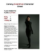 Canary Overdrive Character Sheet: Cutter