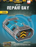 Repair Bay Cardboard Model