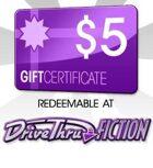 DriveThruFiction $5 Gift Certificate/Account Deposit