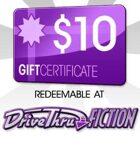 DriveThruFiction $10 Gift Certificate/Account Deposit