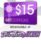 DriveThruFiction $15 Gift Certificate/Account Deposit