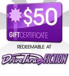 DriveThruFiction $50 Gift Certificate/Account Deposit