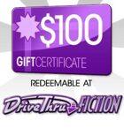 DriveThruFiction $100 Gift Certificate/Account Deposit