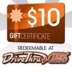 DriveThruCards $10 Gift Certificate/Account Deposit