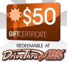 DriveThruCards $50 Gift Certificate/Account Deposit