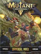 Mutant Chronicles Universal Index