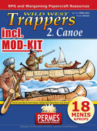 Wild West - Trappers 2 Canoe +MOD-KIT