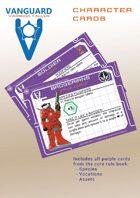 VANGUARD RPG Core Rule Book Character Cards