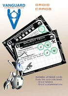 VANGUARD RPG Core Rule Book Droid Cards