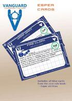 VANGUARD RPG Core Rule Book Esper ability Cards