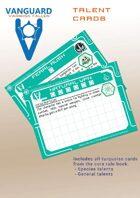 VANGUARD RPG Core Rule Book Talent Cards