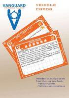 VANGUARD RPG Core Rule Book Vehicle Cards