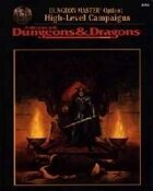 Dungeon Master's Options: High-Level Campaigns