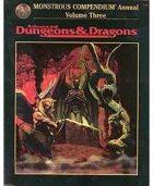 Monstrous Compendium Annual - Volume III