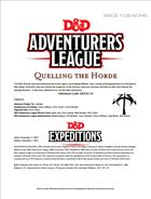 DDEX3-10 Quelling the Horde (5e)