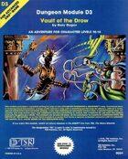 D3 Vault of the Drow (1e)