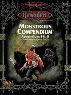 Monstrous Compendium - Ravenloft Appendices I & II (2e)