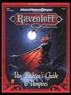 RR3 Van Richten's Guide to Vampires (2e)