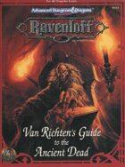 RR9 Van Richten's Guide to the Ancient Dead (2e)