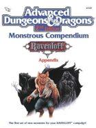 MC10 Monstrous Compendium Ravenloft Appendix