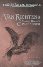 Van Richten's Monster Hunter's Compendium, Vol 1 (2e)