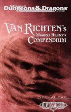 Van Richten's Monster Hunter's Compendium, Vol 2 (2e)