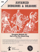 G3 Hall of the Fire Giant King (1e)