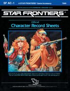 Star Frontiers: (SF AC-1) Official Character Record Sheets