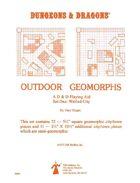 Outdoor Geomorphs Set 1 - Walled City (OD&D & Basic)