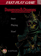 Fast-Play Game - Dungeons & Dragons Worlds of Adventure (2e)