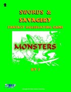 Swords and Savagery Monsters