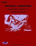 Universal Adventures Adventure Module #7 Tombs of Terror