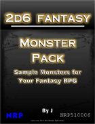 2d6 Fantasy: Monster Pack
