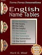 English Name Tables