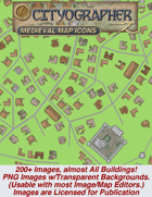 Cityographer Medieval City Map Icons (Any Editor)