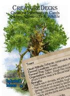 Creature Decks: Fey Constructs & Wildlife (Ecologies/System Neutral)