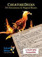 Creature Decks 3.75/PF RPG: Aberrations & Magical Beasts