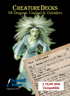 Creature Decks 3.75/PF RPG: Dragons, Undead & Outsiders