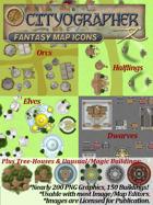 Cityographer Fantasy City Map Icons (Any Editor)