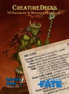 Creature Decks: Fate Core RPG Humanoids & Monstrous Humanoids