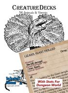 Creature Decks: Dungeon World RPG Animals