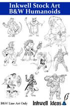 Inkwell Stock Art: B&W Humanoids