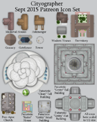 Cityographer September 2015 Monthly City Map Icons (Any Editor)