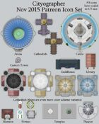 Cityographer November 2015 Monthly City Map Icons (Any Editor)