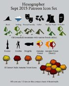 Hexographer September 2015 Monthly World Map Icons (Any Editor)