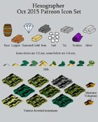 Hexographer October 2015 Monthly World Map Icons (Any Editor)
