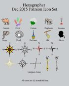 Hexographer December 2015 Monthly World Map Icons (Any Editor)